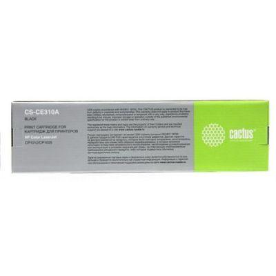 Расходный материал Cactus Картридж cactus CS-CE310A для принтеров HP Color LaserJet CP1012 Pro/CP1025 Pro,черный, 1200 стр CACTUS CS-CE310A