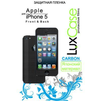 Защитная пленка LuxCase для Apple iPhone 5 (Front&Back) Carbon/Black (80263)
