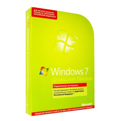 Программное обеспечение Microsoft Windows 7 Home Basic Russian Only DVD F2C-01090