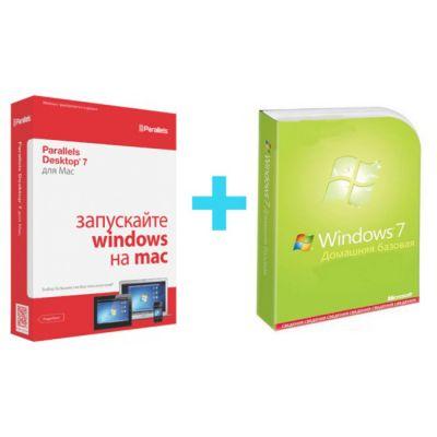 Программное обеспечение Microsoft Бандл Windows Home Basic + Parallels PRB-PDFM7XL-OEM1DVD-RU- MSB-F2C-01090