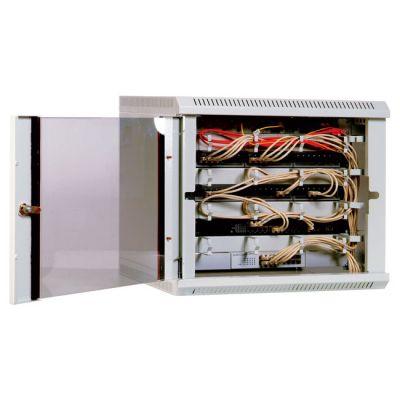 Шкаф ЦМО телекоммуникационный настенный разборный 15U (600х650) дверь стекло ШРН-Э-15.650