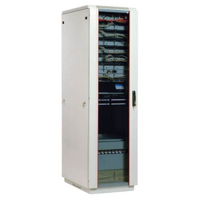 Шкаф ЦМО телекоммуникационный напольный 42U (600x1000) дверь стекло ШТК-М-42.6.10-1ААА