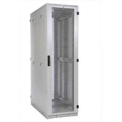 Шкаф ЦМО серверный напольный 42U (600x1000) дверь перфорированная, задние двойные перфорированные ШТК-С-42.6.10-48АА