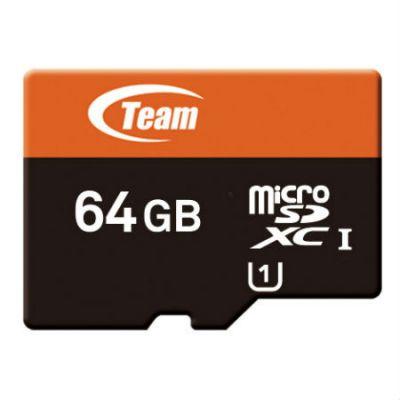 Карта памяти TEAM 64GB microSDXC UHS-1 + sd адаптер (765441005747) TUSDX64GUHS03