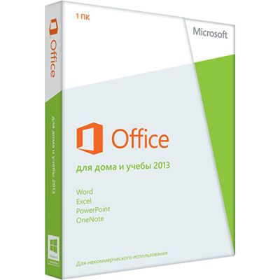 ����������� ����������� Microsoft Office Home and Student 2013 32/64 Russian Russia Only em DVD No Skype 79G-03740