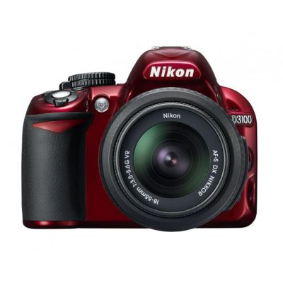 Зеркальный фотоаппарат Nikon D3100 kit 18-55 vr red [VBA281K001]