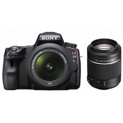 Зеркальный фотоаппарат Sony Alpha SLT-A37Y kit 18-55 + 55-200 mm [SLTA37Y.CEE2]