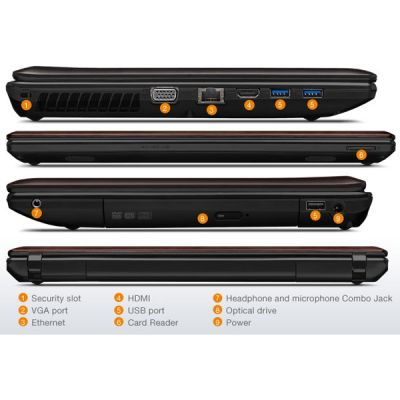 Ноутбук Lenovo IdeaPad G580 Brown 59359882 (59-359882)