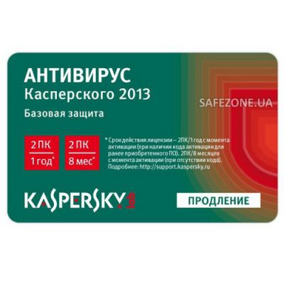 Антивирус Kaspersky Anti-Virus 2013 Russian Edition. 2-Desktop 1 year Renewal Card KL1149ROBFR