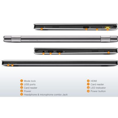 Ноутбук Lenovo IdeaPad Yoga 11 Silver Grey 59345603 (59-345603)