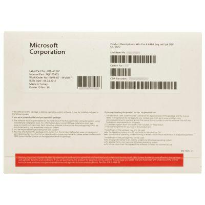 Программное обеспечение Microsoft Windows 8 pro 32B/ENG int DVD 1PK ms FQC-05919