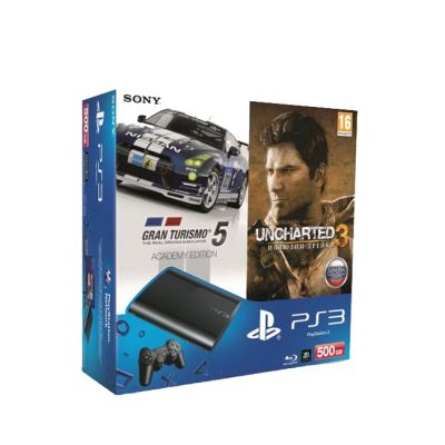 ������� ��������� Sony PlayStation3 500GB + ���� Gran Turismo 5 Academy Edition + ���� Uncharted 3. ������� ������. ������� PS719285137