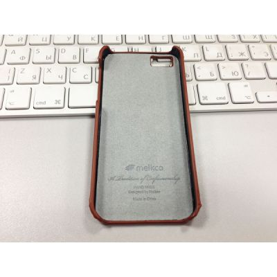 Чехол Melkco Snap Cover для Apple iPhone 5 коричневый (APIPO5LOLT1BNTV)