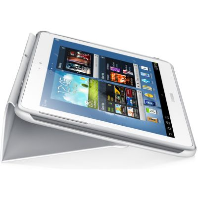 Чехол Samsung для Galaxy Note 10.1 N8000 PU+plastic белый (книжка) EFC-1G2NWECSTD