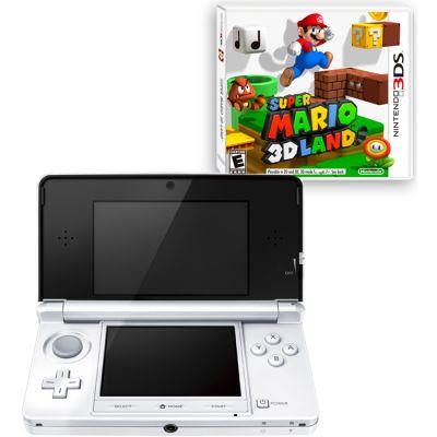 ������� ��������� Nintendo 3DS hw Ice White + 3DS Super Mario 3D Land