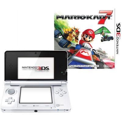 Игровая приставка Nintendo 3DS XL hw White + MarioKart7