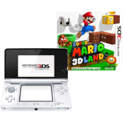 Игровая приставка Nintendo 3DS XL hw White + SuperMario 3D Land