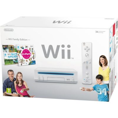 ������� ��������� Nintendo Wii hw rvk White + Wii Party + Wii Sports