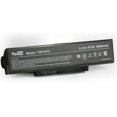 Аккумулятор TopON для asus K72 N71 N73 X72 X73 K73 F2 F3 A9 Series усиленный аккумулятор для 10.8V 6600mAh TOP-K72H