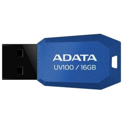 Флешка ADATA 16GB UV100 USB Flash Drive (Blue) AUV100-16G-RBL