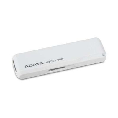 Флешка ADATA 8GB UV110 USB Flash Drive (White) AUV110-8G-RWH