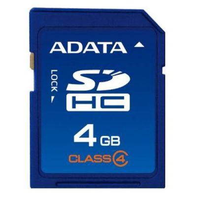 Карта памяти ADATA 4GB sdhc class4 ASDH4GCL4-R