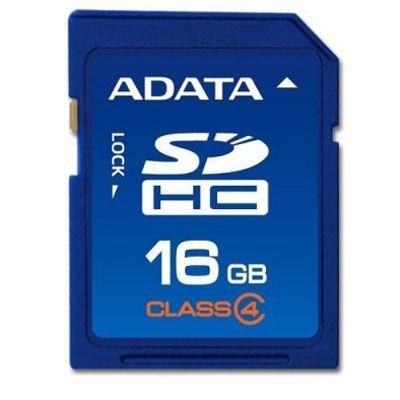 Карта памяти ADATA 16GB sdhc class4 ASDH16GCL4-R
