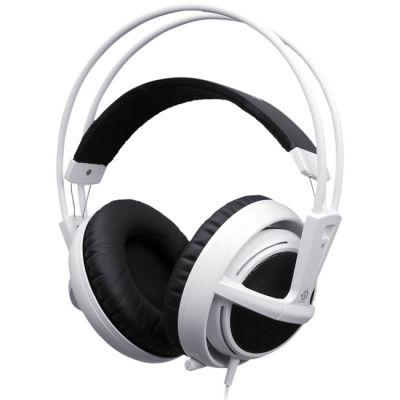 Наушники с микрофоном SteelSeries Siberia v2 full-size headset белые (51100)