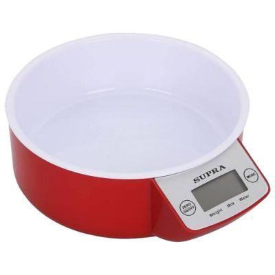 Кухонные весы Supra BSS-4085 red