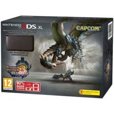 Игровая приставка Nintendo 3DS XL hw (Black) + Monster Hunter 3 Ultimate (Preinstall Limited)
