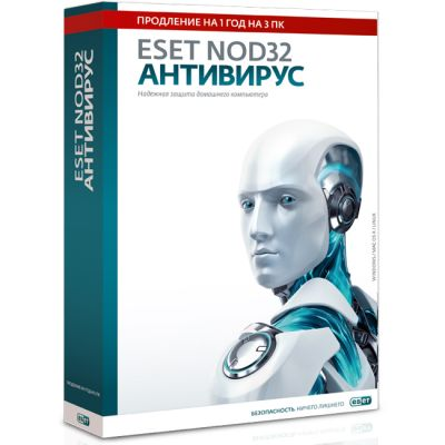 ESET eset NOD32 ��������� - ��������� �������� �� 1 ��� �� 3�� (NOD32-ENA-RN(BOX3)-1-1)
