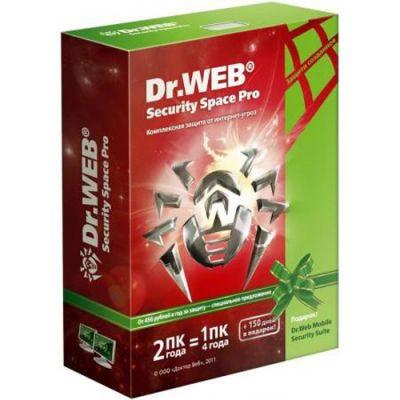 Антивирус Dr.WEB pro для Windows на 2 года на 2 Пк AHW-B-24M-2-A2