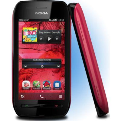 Смартфон Nokia 603 (черный/фуксия)