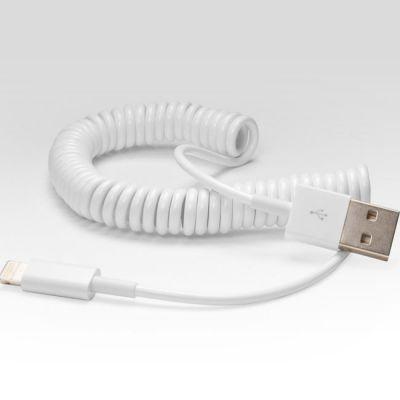 Кабель IQFuture витой для подключения к USB. Подходит для iPhone 5, iPad 4, iPad Mini, iPod Touch 5, iPod Nano 7 IQ-AC03