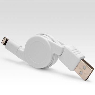 Кабель IQFuture выдвижной для подключения к USB. Подходит для iPhone 5, iPad 4, iPad Mini, iPod Touch 5, iPod Nano 7 IQ-AC02