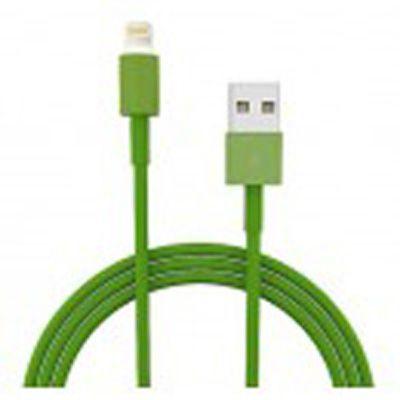 Кабель IQFuture для подключения к USB Подходит для iPhone 5, iPad 4, iPad Mini, iPod Touch 5, iPod Nano 7 зелёный IQ-AC01/G