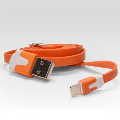 Кабель IQFuture для подключения к USB. Подходит для iPhone 5, iPad 4, iPad Mini, iPod Touch 5, iPod Nano 7 оранжевый IQ-AC01/O