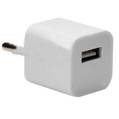 IQFuture Ультракомпактное зарядное устройство для iPhone, iPod и многих других смартфонов и планшетов USB 5W (5V 1A) white IQ-AС04/W