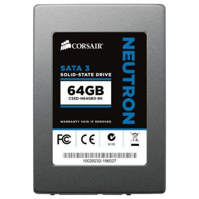 "Твердотельный накопитель Corsair SSD 2,5"" SATA SATA-III 64 gb Drive Neutron Series CSSD-N64GB3-BK"