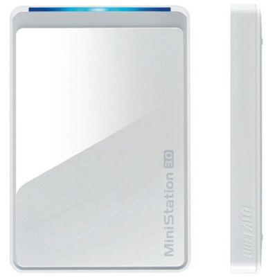 Внешний жесткий диск Buffalo MiniStation USB 3.0 1TB White (HD-PCT1.0U3W-RU)