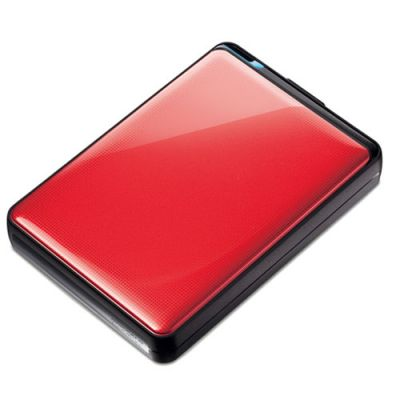 Внешний жесткий диск Buffalo MiniStation Plus USB 3.0 500GB Red (HD-PNT500U3R-RU)