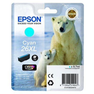 Картридж Epson 26XL Cyan /Зеленовато - голубой (C13T26324010)
