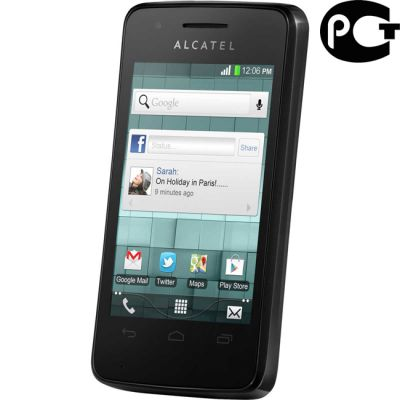 Смартфон Alcatel tpop 4010D Black