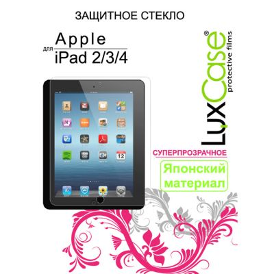 LuxCase Защитное стекло для Apple iPad2 (80284)
