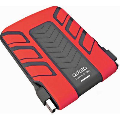 "������� ������� ���� ADATA SH93 2.5"" 500Gb USB 2.0 Red ASH93-500GU-CRD"