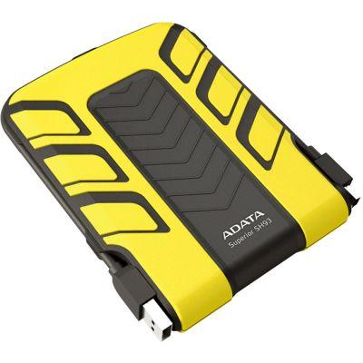 """������� ������� ���� ADATA SH93 2.5"""" 500Gb USB 2.0 Yellow ASH93-500GU-CYL"""