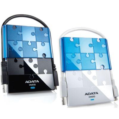 "������� ������� ���� ADATA HV610 2.5"" 500Gb USB 3.0 Black/Blue AHV610-500GU3-CBKBL"