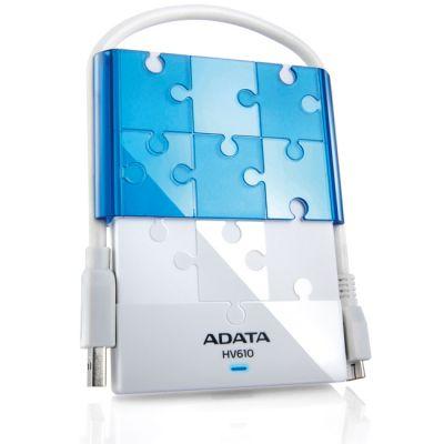 "Внешний жесткий диск ADATA HV610 2.5"" 500Gb USB 3.0 White/Blue AHV610-500GU3-CWHBL"