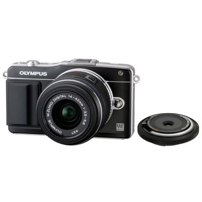 Компактный фотоаппарат Olympus Pen E-PM2 Black+ EZ-M1442 II R Black + BCL1580 kit incl. Charger + Battery V206021BE020