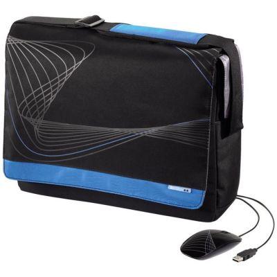 """Сумка Hama Комплект CUVIO: cумка для ноутбука 15.6"""" + мышь (черный/синий) H-50490"""